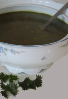 Miso and nettle soup